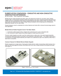 Rubber Keypad Comparison - Conductive and Non-Conductive Construction Differences