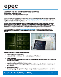 Acoustic Switch Technology Offers Rugged Capabilities for HMI's
