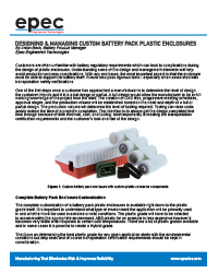 Designing and Managing Custom Battery Pack Plastic Enclosures