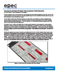 HMI Backlighting Options for Maximum Performance