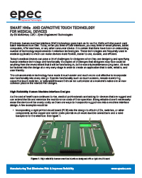 Smart HMI's and Capacitive Touch Technology for Medical Devices