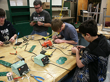 Atholton High School Mixed Robotics Club - Soldering Circuit Boards