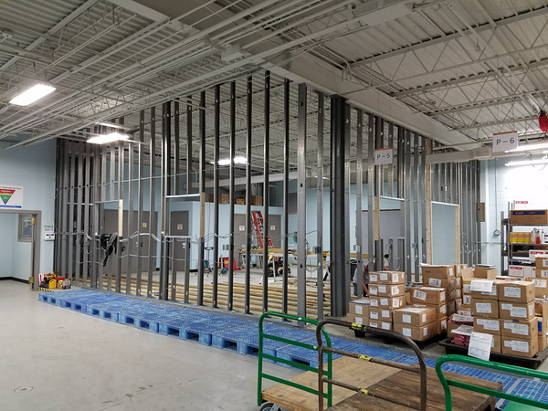 Battery Assembly Room Walls Going Up