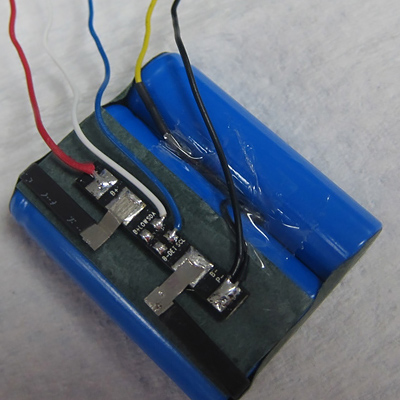 Battery Pack Showing Wiring of PCBA