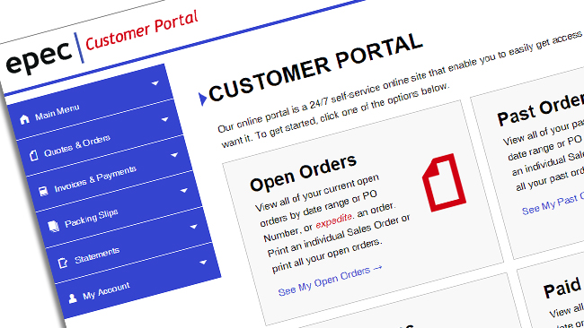 Epec Launches Customer Portal 2.0