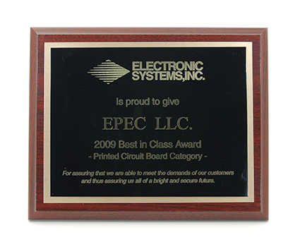 Epec Wins ESI Supplier of the Year Award