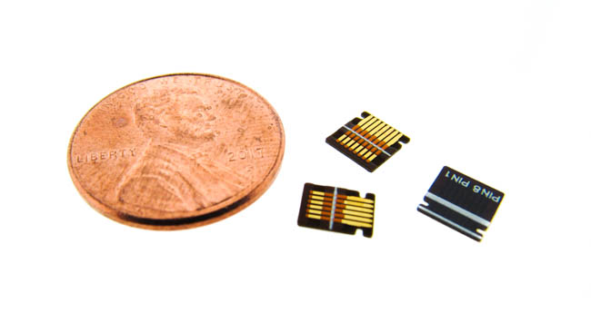 Flexible PCB Microcircuits Near a Penny