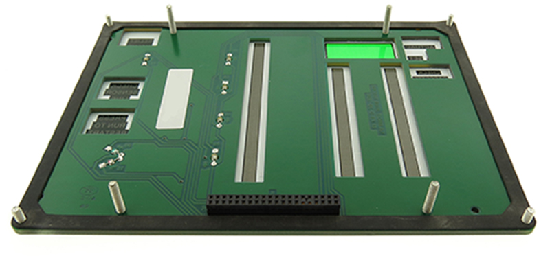 High reliability human-machine interface designed with a rigid circuit board.