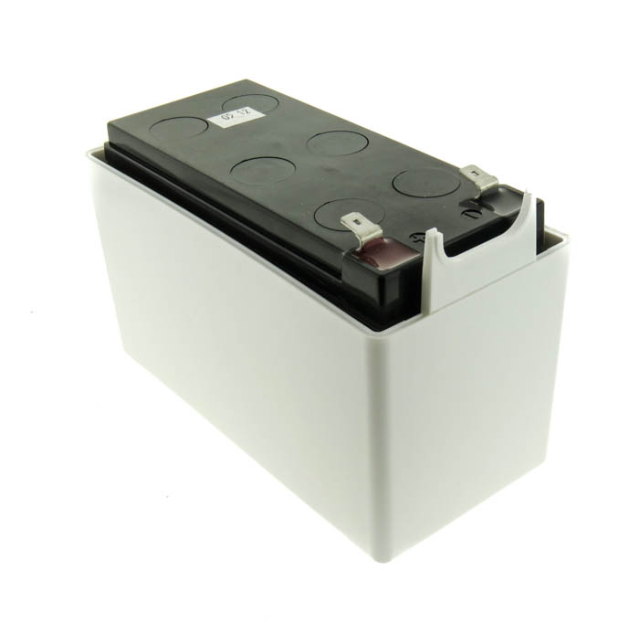 Example of a lead acid battery pack inside a plastic enclosure