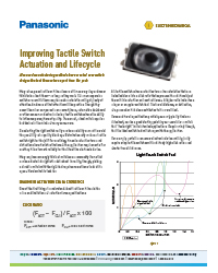 Panasonic - Improving Tactile Switch Actuation and Lifecycle