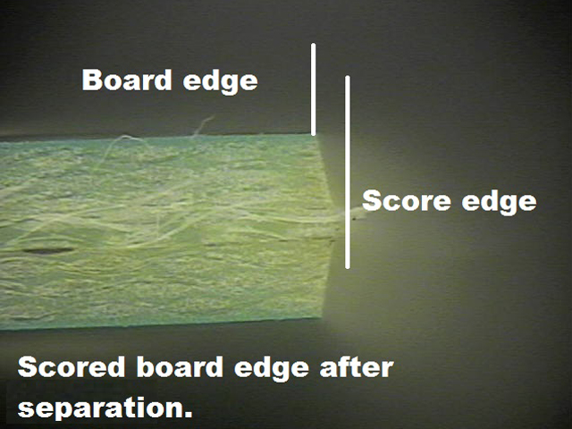 PCB Scored Board Edge After Seperation