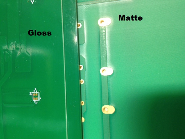 Matte finish vs gloss finish in pcb solder mask design for Flat eggshell semi gloss difference