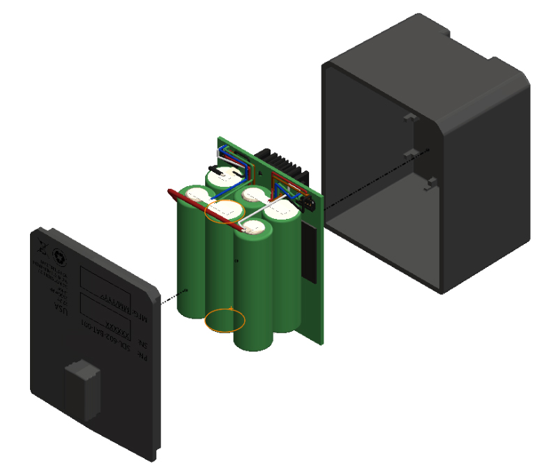 Solidworks 3D Rendering Battery Pack