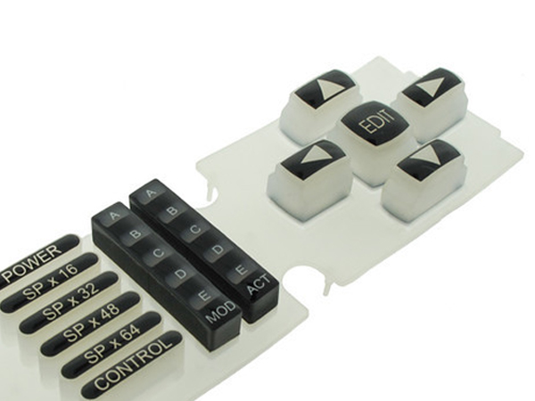 White Molded Silicone Rubber Keypad